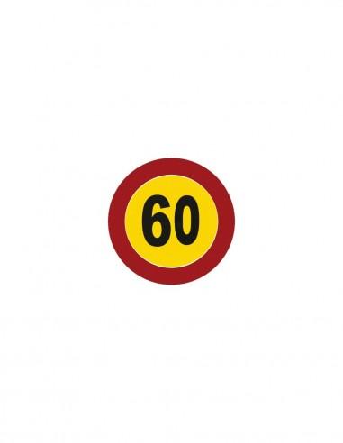 SEÑAL Nº 7 LÍMITE DE VELOCIDAD 60